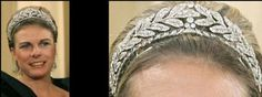 This Laurel Wreath Tiara with a classic leaf and berry motif is often described as an Empire style tiara, or bandeau a la Grecque. Some claim this tiara might have belonged to Princess Louise, a sister of King Willem I, while other sources say the antique tiara was bought by Queen Juliana and Prince Bernhard in 1956 for the 18th birthday of Princess Beatrix.   Whatever the provenance, the tiara can be dated back to  1800-1810 and that makes it the oldest tiara in the Orange-Nassau…