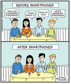 Before and after smart phones