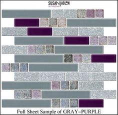 purple color crystal glass mosaic, glass tiles for kitchen