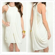 "~Ivory Goddess~ ~WILL BUNDLE TO SAVE ON SHIPPING~  ~PRICE FIRM~   Ivory Goddess  Fabric Content: 100% POLYESTER Description: L: 37"" B: 30"" W: 32   ~I SELL OTHER PLACES SO ITEMS GO QUICK SO DON'T HESITATE AND MISS OUT~ Dresses Mini"