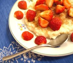 milk pap with strawberries :)