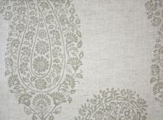 Paisley Printed Fabric A large paisley design printed fabric in a natural beige.