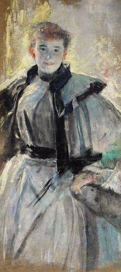 Portrait of Wanda Kossuth by Leon Wyczółkowski, after 1892 (PD-art/80), Muzeum Narodowe w Warszawie (MNW)