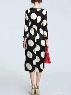 Dot Printed Midi Dress