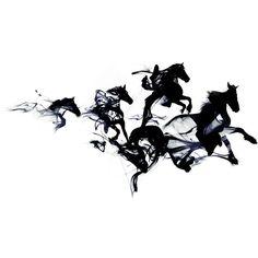 Black Horses Print, Horses Wall Decor, Horses Art Print, Pony Art,... ❤ liked on Polyvore featuring home, home decor, wall art, black home decor, black framed wall art, unframed wall art, horse home decor and horse paintings