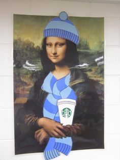 Mona brought a Starbucks into W-5, to keep herself warm this winter.