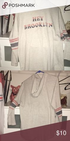 """f6c1d4f9a2816 """"hey brooklyn"""" hoodie sweater i got this hooded sweatshirt at kohl s but  the brand"""