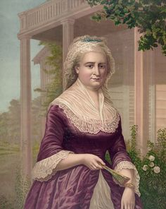 """Martha Washington, George Washington's wife was the first to be given the title """"lady"""" by the press, as in """"Lady Washington,"""" and the first wife of a president to appear on U. George Washington Facts, Washington Apple, Today In History, Women In History, Ancient History, American Presidents, American History, American First Ladies, Early American"""