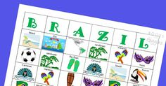 A colorful set of bingo cards and a fun game cube to learn about Brazil. Plus…