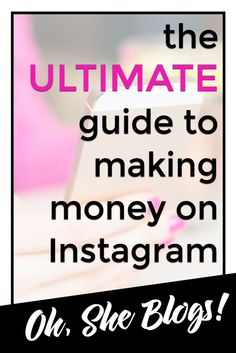 How to Make Money from Instagram http://ohsheblogs.com/how-to-make-money-from-instagram/?utm_campaign=coschedule&utm_source=pinterest&utm_medium=Oh%2C%20She%20Blogs%21&utm_content=How%20to%20Make%20Money%20from%20Instagram  Everything you need to know to monetize your Instagram account.