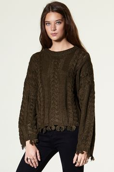 Suanalla Twisted Pullover Discover the latest fashion trends online at storets.com #Twisted #Pullover #Khaki