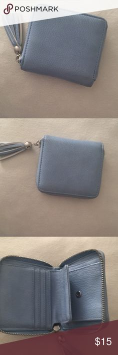 Charming Charlie's baby blue wallet Brand new barely used cute wallet Charming Charlie Bags Wallets