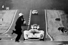 I don't know how this idiot got on to the track at Le Mans