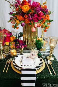 Table setting Inspired by All Things Kate Spade | Photo by: Corina V. Photography.