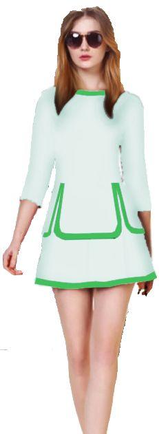 0186 Vestido Detalhe Saia Tiras #uniforme #senhorcoelho #senhor #coelho #event #uniforme #personalizado