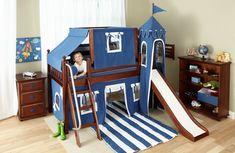 jungenzimmer gestalten kinderbett mit rutsche Toddler Bed, Loft, Kids, Furniture, Home Decor, Toddler Bed With Slide, Playground, Ideas, Child Bed