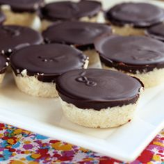Dark Chocolate Coconut Treats – Vegan, Gluten-free + Refined Sugar-Free