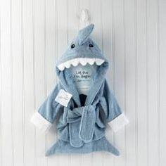 Let The Fin Begin Shark Baby Robe