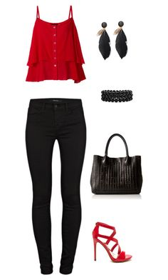 """""""Untitled #964"""" by netteskytte on Polyvore featuring J Brand, Steve Madden and Bling Jewelry"""