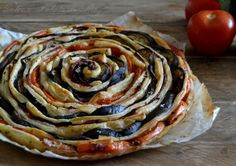cake recipe spiral of eggplant and tomatoes |  Dolce e Salato Miky  (English translation available)