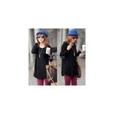 2014 New Fashion Ladies Loose Long Sleeve Knit Pullover Cardigan Tops... (56 HKD) via Polyvore