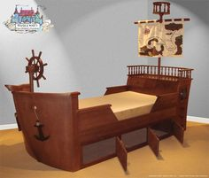 pirate ship for a kid's bed? I'd be the coolest mom ever.