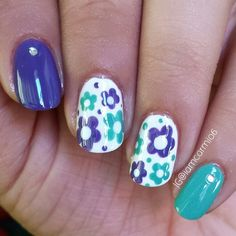 Floral nails.