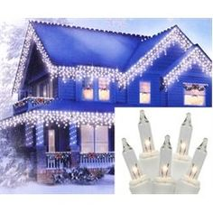 NorthLight Heavy Duty Clear Icicle Christmas Lights  White Wire Set Of 300 ** You can find more details by visiting the image link.