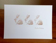 Osterkarten, Stempel Kaninchen von Alexandra Renke