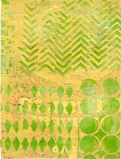gelli print using phone book pages for paper