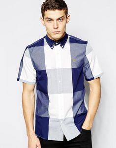 Fred Perry | Fred Perry Shirt with Bold Check in Short Sleeves at ASOS