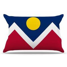 East Urban Home Bruce Stanfield 'Denver Colorado City Flag' Vector Geometric Pillow Case