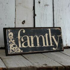 Reclaimed painted and distressed wood sign by MannMadeDesigns4, $25.00