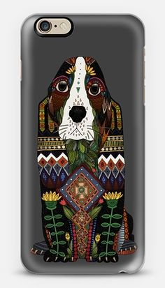 Buy Basset Hound love fuchsia pink iPhone by Sharon Turner at CASETiFY.