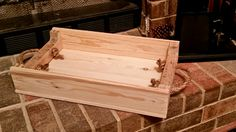 """Pallet wood serving tray. 20""""x12"""""""
