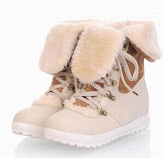 Cheap Sweet Women's Short Boots With Color Block and Lace-Up Design (WHITE,38), Boots - Rosewholesale.com