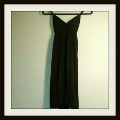 Derek Heart Black Adjustable Strap Dress M Cotton dress with attached tie in back, padded bra Derek Heart Dresses