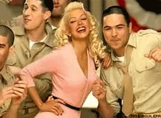Christina Aguilera look in Candyman Video... love this pink dress!