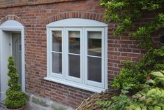 Beautiful, modern and traditional windows - Flush casement timber windows, all made to measure using engineered timber and top performance double glazing. Wooden Casement Windows, Grey Windows, Timber Windows, Cottage Windows, Traditional Windows, French Grey, Window Design, House Front, Building A House