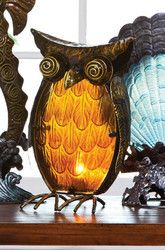 Owl Home Indoor Furniture and Decor, Table Lamp - NEW!