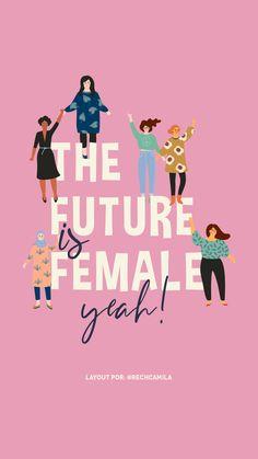 the future is female illustration Simple Illustration, Digital Illustration, Frases Instagram, Instagram Story, Girl Empowerment, Feminist Art, Grafik Design, Girls Be Like, Powerful Women