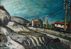 Auguste Chabaud, Road with Electric Poles