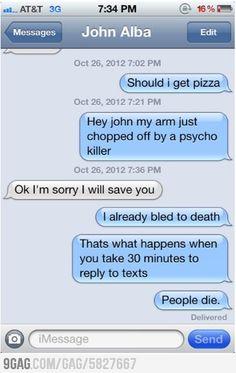 People die.