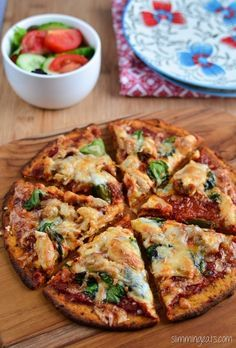 Slimming Eats Sweet Potato Pizza Crust Recipe - Gluten Free, Dairy Free, Grain Free, Paleo, AIP, Slimming World, Weight Watchers and Vegetarian friendly #weightlossmotivation