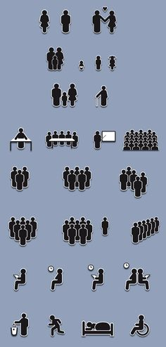 People Pictograms on the Behance Network