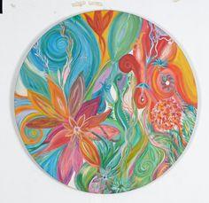 "Saatchi Art Artist Pato Gil Villalobos Art; Painting, ""Mandala Sathya "" #art"