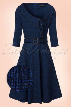 Vixen Lilly Blue Swing Dress 102 30 19433 20161004 0004wv
