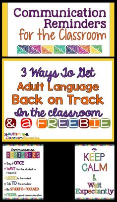 I'm sharing 3 ways to help adults talk less and wait more for special education to complete things independently or communicate.  Includes 2 posters with reminders to post in the special education classroom.