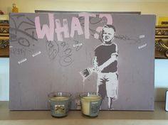 Banksy fireplace piece