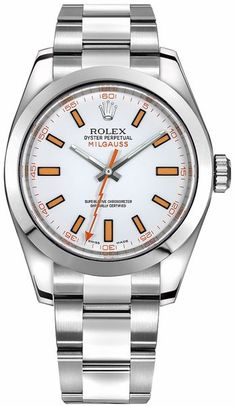 116400 Rolex Oyster Milgauss Automatic White Dial Mens Watch
